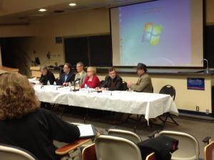 (L-R) David Blight, Kevin Levin, John Hennessy, Karen Cox, Jonathon Noyalas, and Leonard Lanier.