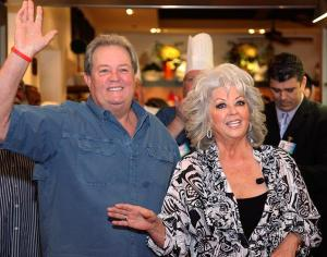 Paula Deen with her brother Bubba Hiers, co-owners of Uncle Bubba's Oyster House.