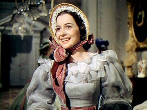 The true southern belle from GWTW was Melanie Hamilton Wilkes, played by Olivia deHavilland
