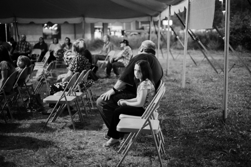 Tent revival in Pike County, KY.  Photo by Roger May, July 19, 2014.