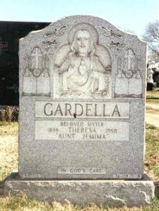 Gardella's gravestone