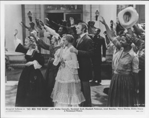Film still. So Red the Rose (1935)