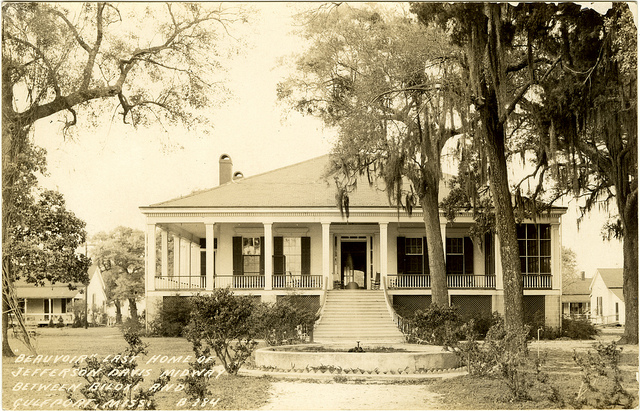 Early image of Beauvoir, the Last Home of Jefferson Davis