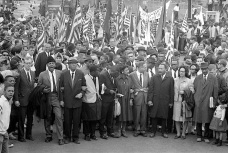 From the Selma to Montgomery taken March 25, 1965. MLK, Jr. at Center.