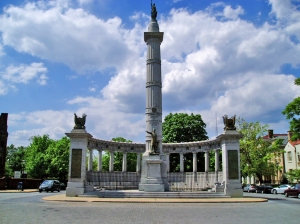 The Jefferson Davis Monument on Monument Avenue in Richmond, VA, was a result of UDC fundraising efforts.