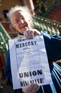 Wells made national papers again in 2011 when an image of her appeared in USA Today as one of several South Carolinians participating in a Secession Ball.