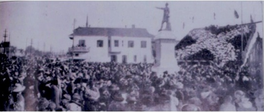 Unveiling ceremonies, Jefferson Davis Monument in New Orleans, 1907.